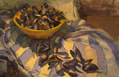 Still life with mussel shells